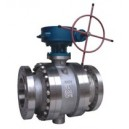 Metal seated trunion ball valve